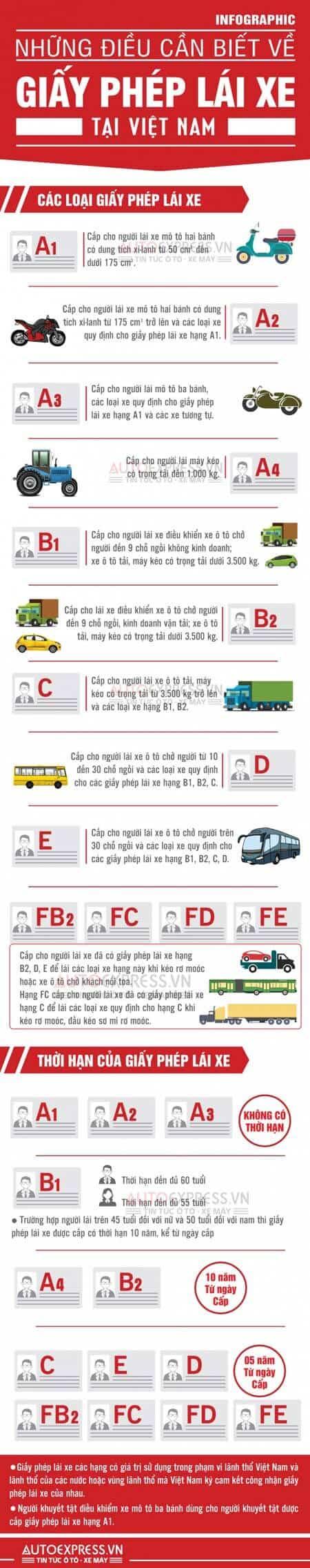 - pho-bien-phap-luat-giao-thong-viet-nam, blog-giao-thong - Danh mục các loại bằng lái xe tại Việt Nam