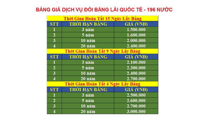 GIÁ DỊCH VỤ ĐỔI BẰNG QUỐC TẾ - 2017 - final