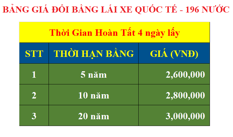 Changing 196 International Driver's License for Vietnamese Overseas (travel, study abroad) 1