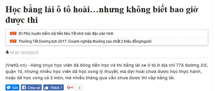 VietQ.vn newspaper: Studying for a driver's license all the time ... but I don't know when I could take the exam