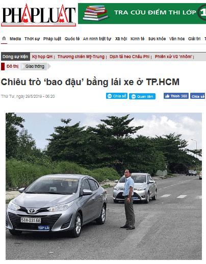 lua dao thi lai xe bao dau tphcm saigon - 7 Cách Lừa Đảo Học Viên Đăng Ký Học Thi Lái Xe Ôtô ở HCM