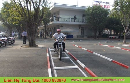 The center organizes cheap motorbike driving test