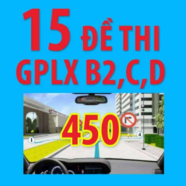 Đáp án giải 15 đề thi sát hạch lái xe oto 2018 (phần mềm thi lý thuyết)