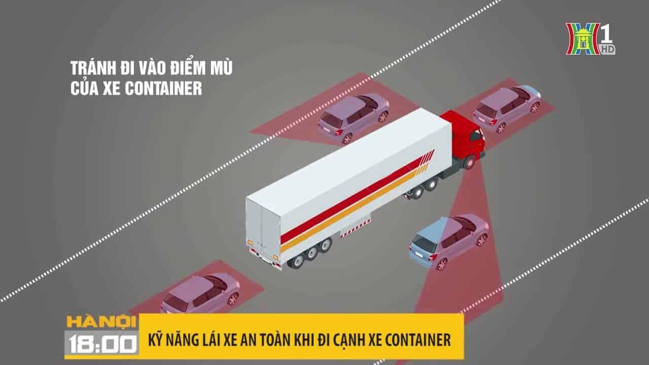 Tìm hiểu chi tiết điểm mù và điểm chết của xe tải và cách lưu thông an toàn cùng xe tải to 2