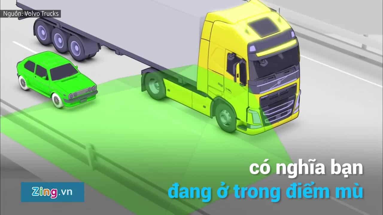 Tìm hiểu chi tiết điểm mù và điểm chết của xe tải và cách lưu thông an toàn cùng xe tải to 3