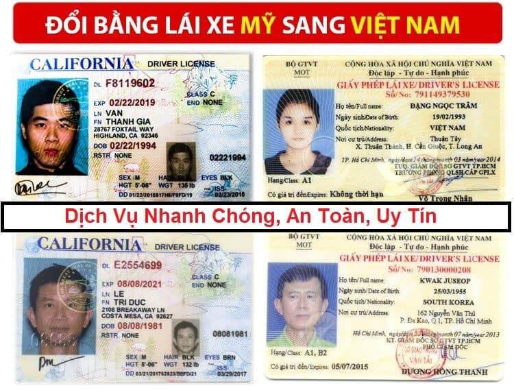 Quick Change of American Driver's License to Vietnam 1