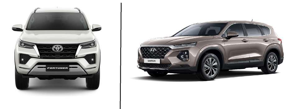 SANTAFE 2020 vs Fortuner