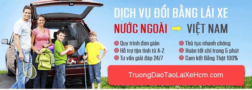 Dịch vụ đổi bằng lái xe cho người nước ngoài về Việt Nam